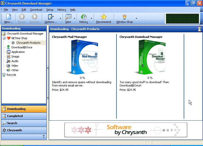 Chrysanth download manager contact page